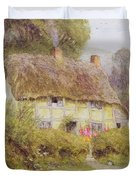 A Country Cottage Duvet Cover by Helen Allingham