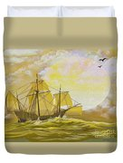 A Day At Sea Duvet Cover by Cheryl Young