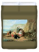 A Day At The Seaside Duvet Cover by William Scott