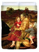 A Dream of the Past Duvet Cover by Sir John Everett Millais