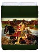 A Dream Of The Past Duvet Cover by Sir John Everett Millais