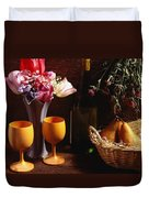A Floral Display Duvet Cover by David Chapman