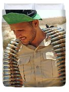 A Free Libyan Army Soldier With An Duvet Cover by Andrew Chittock