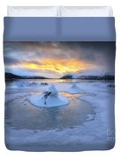 A Frozen Fjord That Is Part Duvet Cover by Arild Heitmann