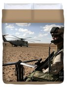 A Marine Assembles A Radio Antenna Duvet Cover by Stocktrek Images