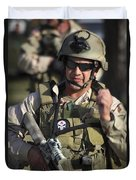 A Military Reserve Navy Seal Gives Duvet Cover by Michael Wood