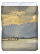A Mountain Landscape Duvet Cover by Unknown