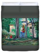 A Nice Day In Dominion Square  Duvet Cover by Reb Frost
