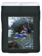 A Quiet Afternoon Duvet Cover by William Henry Lippincott