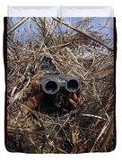 A Scout Observer Practices Observation Duvet Cover by Stocktrek Images