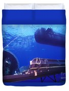 A Seal Delivery Vehicle Hovers Duvet Cover by Michael Wood