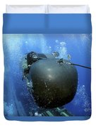 A Seal Delivery Vehicle Team Member Duvet Cover by Stocktrek Images
