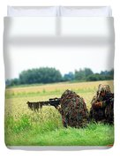 A Sniper Unit Of The Paracommandos Duvet Cover by Luc De Jaeger