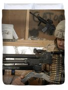 A Soldier Conducts An Observation Duvet Cover by Stocktrek Images