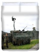 A Soldier Of The Belgian Army Duvet Cover by Luc De Jaeger