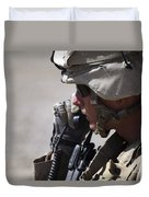A Squad Leader Puts His Marines Duvet Cover by Stocktrek Images