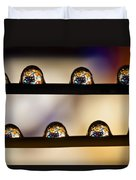 A Treasure Of Dice And Gems Duvet Cover by Marc Garrido