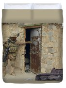 A U.s. Marine Searching Duvet Cover by Stocktrek Images
