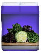 A Variety Of Lettuce Duvet Cover by Photo Researchers, Inc.
