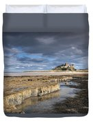 A View Of Bamburgh Castle Bamburgh Duvet Cover by John Short