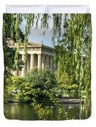 A View Of The Parthenon 10 Duvet Cover by Douglas Barnett