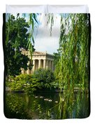 A View Of The Parthenon 15 Duvet Cover by Douglas Barnett