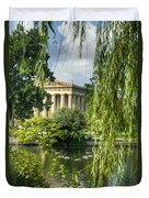 A View Of The Parthenon 16 Duvet Cover by Douglas Barnett