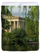 A View Of The Parthenon 3 Duvet Cover by Douglas Barnett