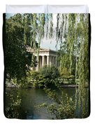 A View Of The Parthenon 6 Duvet Cover by Douglas Barnett