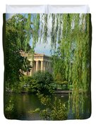 A View Of The Parthenon 8 Duvet Cover by Douglas Barnett