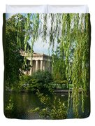 A View Of The Parthenon 9 Duvet Cover by Douglas Barnett