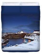 A Village On The Coast Seaton Sluice Duvet Cover by John Short