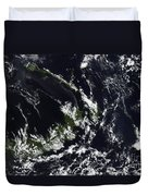 A Volcanic Plume From The Rabaul Duvet Cover by Stocktrek Images
