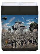 A World Stripped Bare From The Effects Duvet Cover by Mark Stevenson