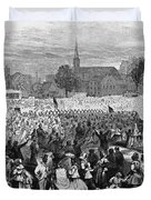 Abolition Of Slavery Duvet Cover by Photo Researchers