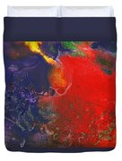 Abstract - Crayon - Andromeda Duvet Cover by Mike Savad