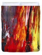 Abstract - Acrylic - Rising power Duvet Cover by Mike Savad