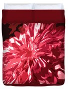 Abstract Flowers Duvet Cover by Sumit Mehndiratta