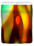 Abstract Rising Up Duvet Cover by Amy Vangsgard
