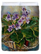 AFRICAN VIOLETS Duvet Cover by CAROLE SPANDAU