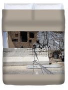 Airman Stands Post To The Entry Control Duvet Cover by Stocktrek Images