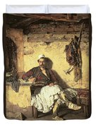 Albanian Sentinel Resting Duvet Cover by Paul Jovanovic