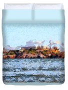 Alcatraz Island In San Francisco California . 7d14031 Duvet Cover by Wingsdomain Art and Photography