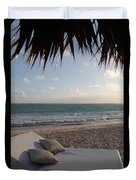 Alluring Tropical Beach Duvet Cover by Karen Lee Ensley
