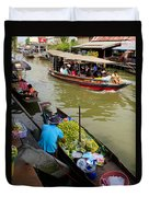 Ampawa Floating Market Duvet Cover by Adrian Evans