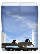 An A-10 Thunderbolt II Taxies Duvet Cover by Stocktrek Images