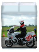 An Officer Of The Military Police Duvet Cover by Luc De Jaeger