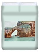 Anacapa Island 's Arch Rock Duvet Cover by Cheryl Young