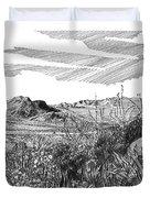 Anthony Gap New Mexico Texas Duvet Cover by Jack Pumphrey