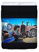 Antique Auto Sales Duvet Cover by Steve McKinzie